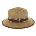 Chapeau de paille Edwardo naturel/marron