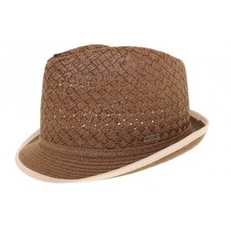 Chapeau de paille Gil marron