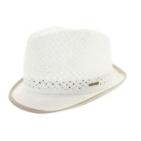 Chapeau de paille Gil blanc