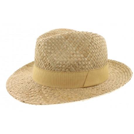 Chapeau paille Herman Headwear naturel et beige