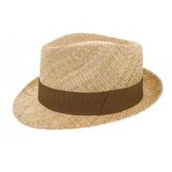 Chapeau de paille Grant naturel marron