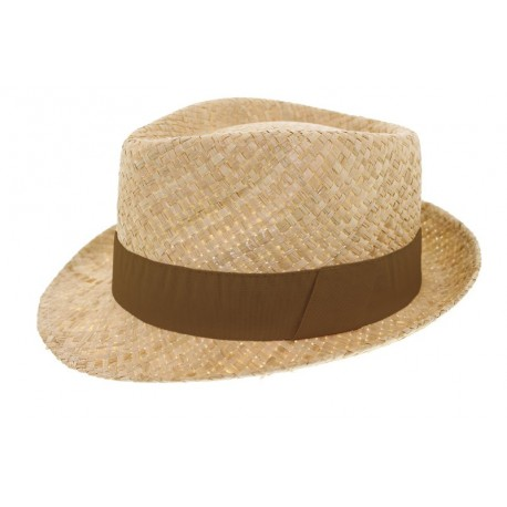 Chapeau de paille Grant naturel marron