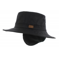 Chapeau pluie Rain Eurico Noir Herman Headwear