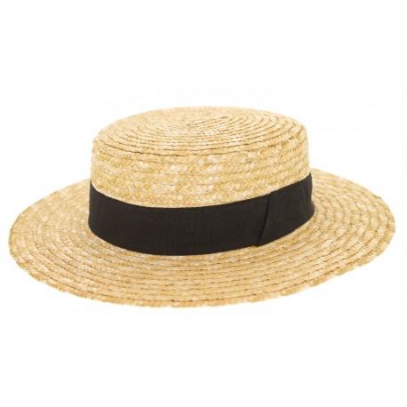 Chapeau paille Canotier Naturel Herman Headwear