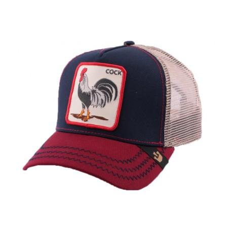 Casquette Trucker Goorin Bros American Rooster Marine CASQUETTES GOORIN BROS