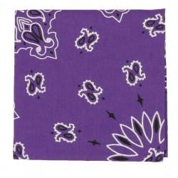 Carré Imprimé Bandana Violet Lilas