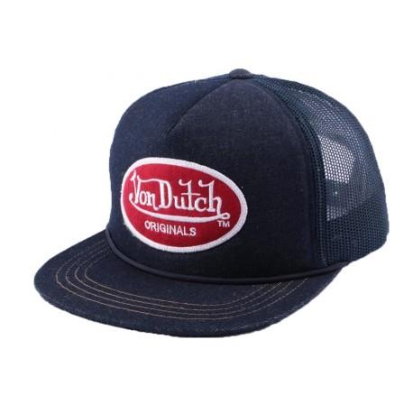 Casquette Trucker Von Dutch Logo Bleu