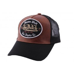 Casquette Trucker Von Dutch Grl Marron CASQUETTES VON DUTCH