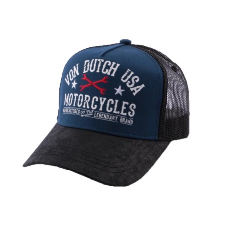 Casquette Trucker Von Dutch Garage Bleu