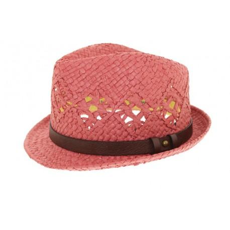 Chapeau de paille James rose