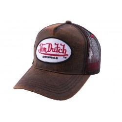 Casquette Trucker Von Dutch OG Marron CASQUETTES VON DUTCH