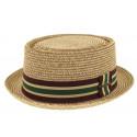 Chapeau de paille Luis naturel vert