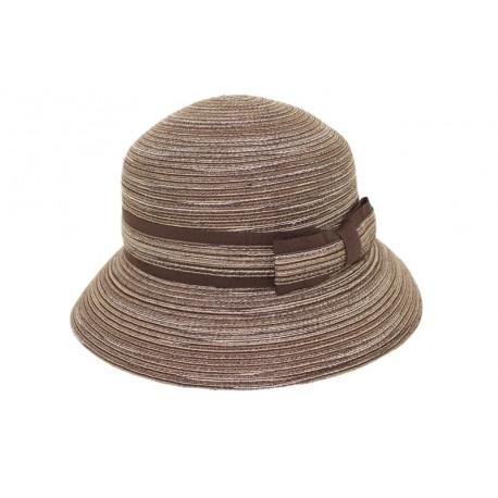 Chapeau de paille Romy raye marron