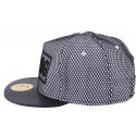 Snapback JBB Couture Swag blanche filet noir