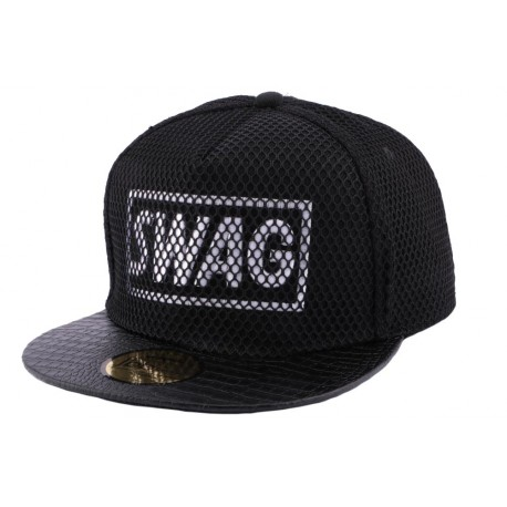 Snapback JBB Couture Swag Noir filet Noir