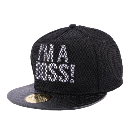 Snapback JBB Couture I'm a Boss Noir Filet