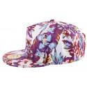 Snapback JBB Couture Florale Violet et blanc