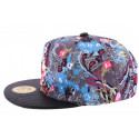 Snapback JBB Couture Florale Grise et bleu