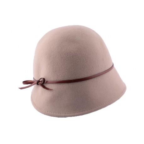 Chapeau Feutre Dahlia Beige