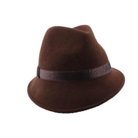 Chapeau Feutre Bryan en coloris Marron