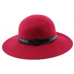 Chapeau Feutre Carmina en coloris rouge CHAPEAUX Léon montane