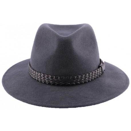 Chapeau feutre Traveller en coloris gris