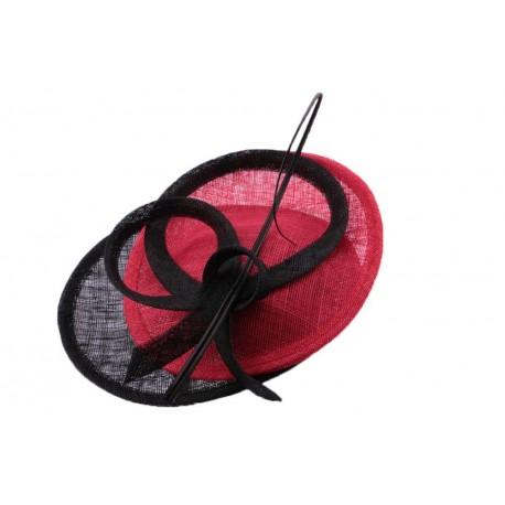 Chapeau Cérémonie Artémis Rouge et Noir