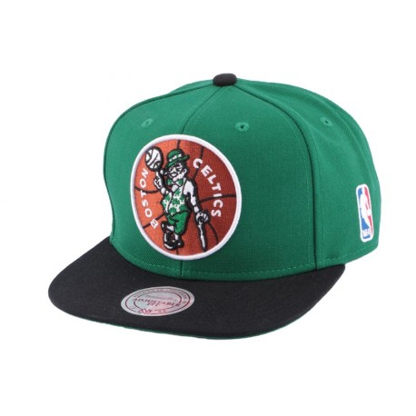 Snapback Boston Celtics Mitchell & Ness Verte