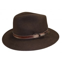 Chapeau feutre Mackinsley marron