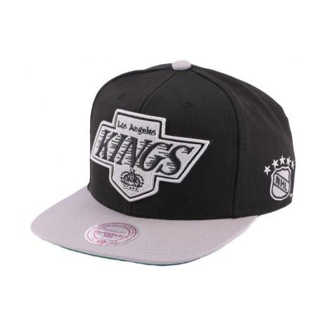 Snapback Los Angeles Kings Mitchell & Ness Noire et Grise