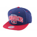 Snapback Montreal Canadiens Mitchell & Ness Bleu et Rouge
