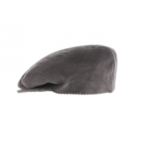 Casquette Boston velours Gris