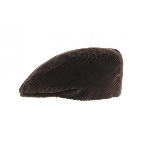 Casquette Boston velours Marron