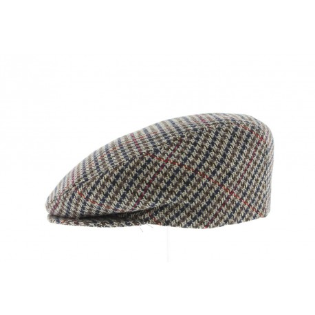 Casquette Boston carreaux Marron