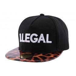 Snapback JBB Couture Illegal noire et Léopard