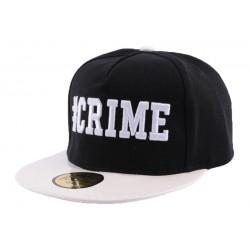 Snapback JBB Couture Crime Noire et Blanche