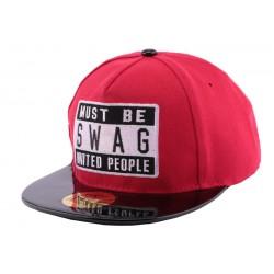 Snapback JBB Couture Must Swag Rouge enfant de 10 ans à 16 ans Casquette Enfant Hip Hop Honour