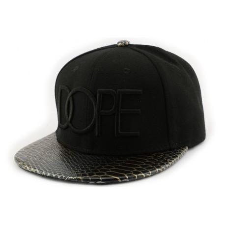 Snapback Hip Hop Dope Noir