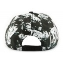 Snapback Hip Hop Florale noire et blanche