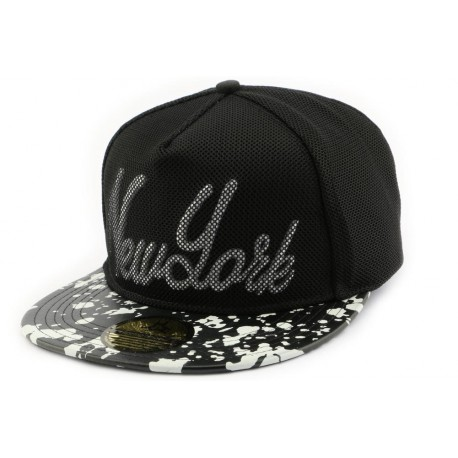 Snapback Hip Hop New york filet noir