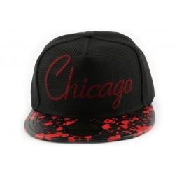 Snapback Hip Hop Chicago noire et rouge CASQUETTES Hip Hop Honour
