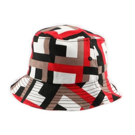 Bob Coke Boys façon géométrique ecru et rouge