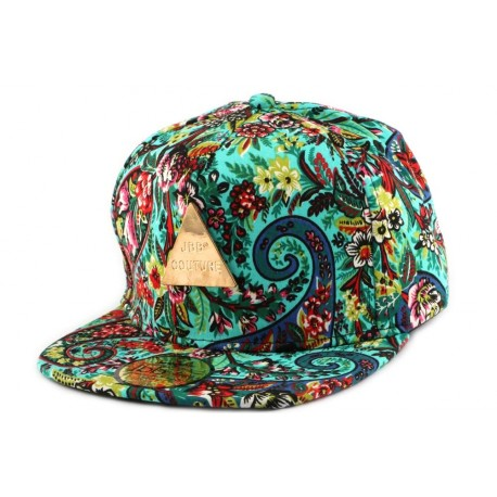 Snapback JBB Couture Florale Verte ANCIENNES COLLECTIONS divers