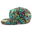 Snapback JBB Couture Florale Verte
