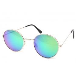 Lunettes Soleil John monture argent verres reflets Bleu LUNETTES SOLEIL Eye Wear