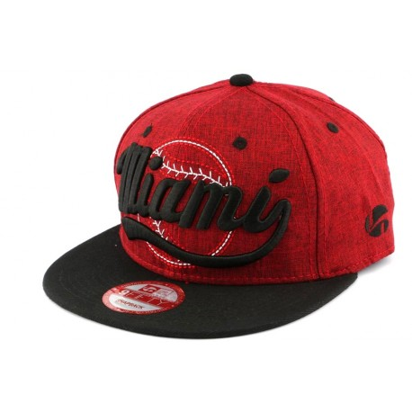 Snapback Landtaylor Rouge Miami ANCIENNES COLLECTIONS divers