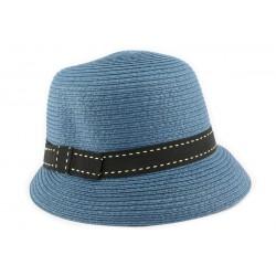 Chapeau cérémonie Coco en mottled Bleu CHAPEAUX Nyls Création