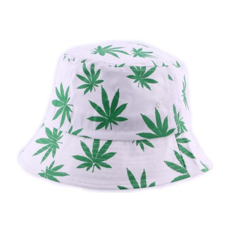 Bob streetwear Blanc Feuille Verte ANCIENNES COLLECTIONS divers