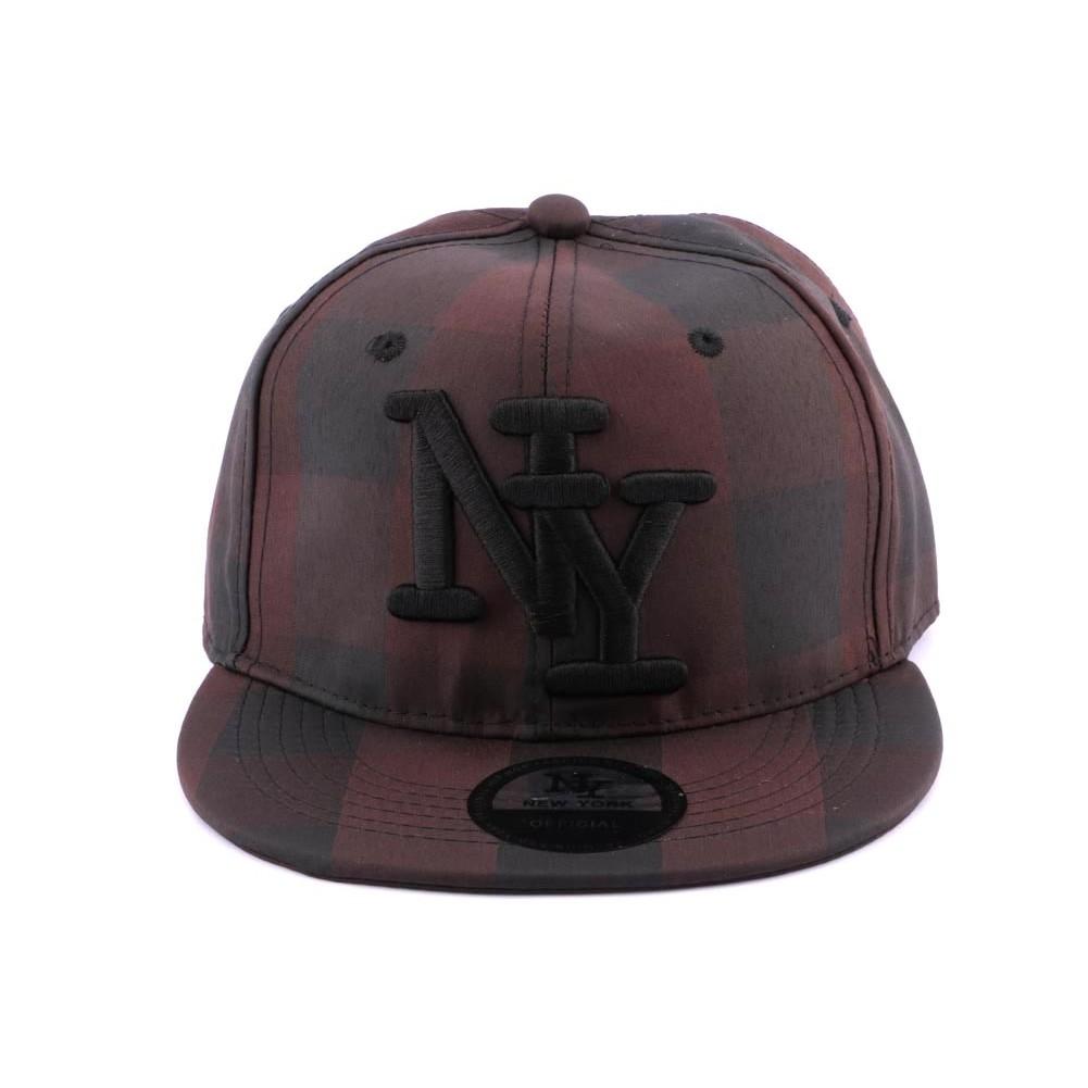 casquette snapback ny carreaux noirs et marrons hatshowroom site headwear. Black Bedroom Furniture Sets. Home Design Ideas