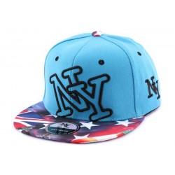 Snapback NY Bleu vintage drapeau US CASQUETTES Hip Hop Honour